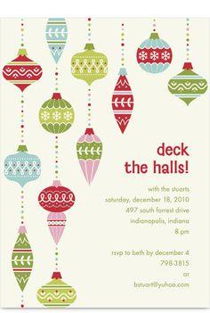 deck the halls invite