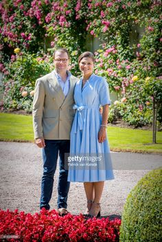 Crown Princess Victoria of Sweden and Prince Daniel of Sweden is seen meeting the people gathered in front of Solliden Palace to celebrate the 40th birthday of Crown Princess Victoria of Sweden on July 15, 2017 in Borgholm, Sweden.