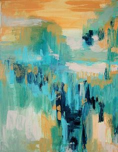 Original Abstract Painting on 16x20 Canvas by by LindaSuzStudios, $99.00
