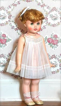 "Vintage Dolls 1960s | Vintage Little Girl Toodles Doll 24"" 1960 Near Mint."