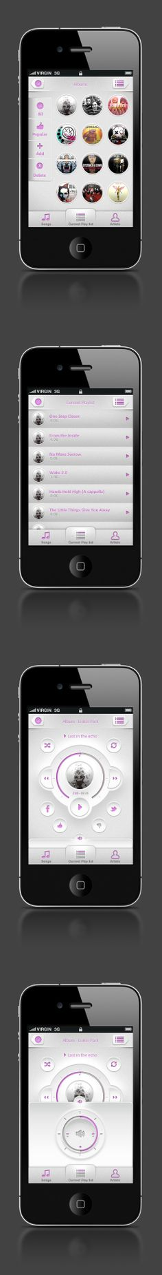 Music Player Application - Personal Project by Ernest Gerber, via Behance