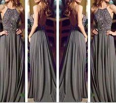 Sexy Long Prom Dress Custom Prom Dress Backless Prom Dress Beading Prom Dress Long Evening Dresses,Formal Dresses PD160149