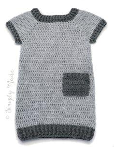 Nog een Simpel Jurkje - SIMPLY MADE by ALMA Knit Or Crochet, Baby Blanket Crochet, Crochet For Kids, Hand Crochet, Knitting Help, Knitting For Kids, Baby Knitting, Baby Halloween Costumes For Boys, Diy Bebe