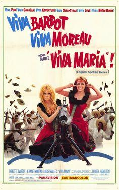 """Viva Maria!"" (1965)Stars: Brigitte Bardot, Jeanne Moreau, Paulette Dubost, George Hamilton. Director: Louis Malle"