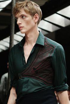 fashionloveskarl: Paul Boche at Dries Van Noten S/S 2015