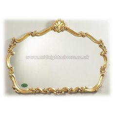 Adele Mirror - Traditional Decorative Gold Overmantle Mirror