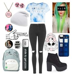 """Untitled #163"" by thedoctor10 ❤ liked on Polyvore featuring Phase 3, Topshop, Boohoo and Ghibli"