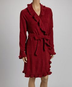Take a look at this Garnet Ruffle Robe - Women & Plus by Casual Moments on #zulily today! $34.99