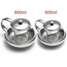 Glass Stainless Steel Loose Tea Leaf Infuser Teapot Coffee Herbal 600ml 800ml UK in Home, Furniture & DIY, Cookware, Dining & Bar, Tableware, Serving & Linen | eBay