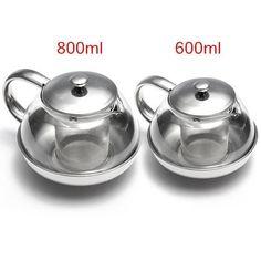 Glass Stainless Steel Loose Tea Leaf Infuser Teapot Coffee Herbal 600ml 800ml UK in Home, Furniture & DIY, Cookware, Dining & Bar, Tableware, Serving & Linen | eBay