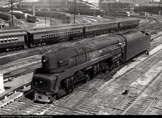 RailPictures.Net Photo: PRR 5539 Pennsylvania Railroad Steam 4-4-4-4 at Saint Louis, Missouri by silverrailsgallery.com