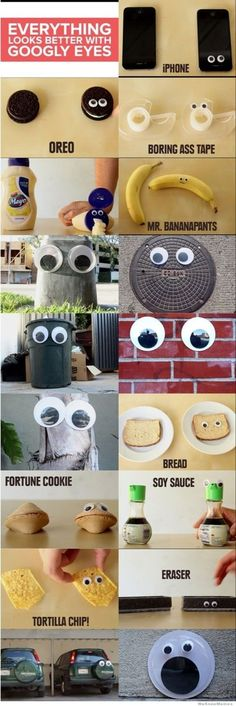 I love googly eyes! They do make everything look much cooler!