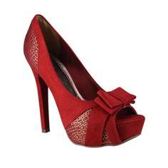 Sapato Via Marte 14-6406 - Carmim (M.Fibra/Croco) - Calçados Online Sandálias, Sapatos e Botas Femininas | Katy.com.br