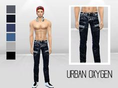 Acid Void Urban Jeans by McLayneSims at TSR via Sims 4 Updates
