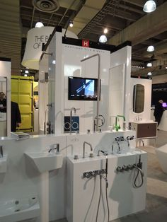 Vola shower and faucets on display at ICFF 2012.