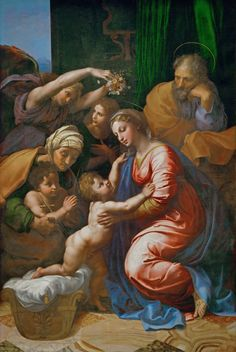 Raphael - Holy Family with Saint Elizabeth, the Young Saint John and Angels (Holy Family of Francis I)