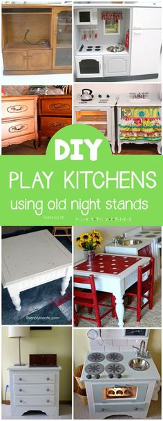Repurposing Old Furniture. Kid friendly ideas