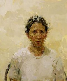 "Ann Gale Self Portrait with White Shirt  17 x 14"" oil on panel 2000 http://www.hackettfreedman.com/generated-images/_largest_w400_h400GAL-015-E.jpg"