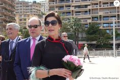 Semi-Exclusif - Le prince Albert II de Monaco et la princesse Caroline de Hanovre lors de l'inauguration de l'exposition artmonte-carlo à Monaco le 28 avril 2017 © Claudia Albuquerque / Bestimage