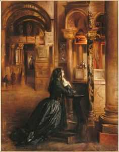 Femme en prière à Saint-Marc de Venis, by Jean-Louis-Ernest Meissonier.
