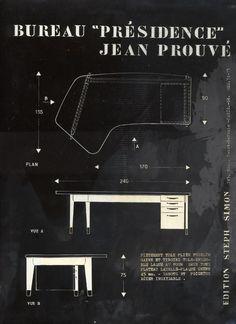"""Jean Prouvé, Jean Prouvé, Bureau """"Présidence"""" - Galerie Downtown"""