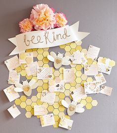Bee Kind wall of kindness commitments at Paper Source