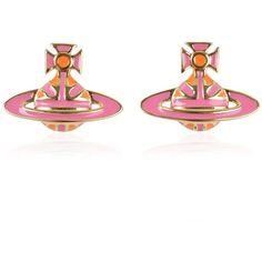 VIVIENNE WESTWOOD JEWELLERY Jack Orb Earrings ($72) ❤ liked on Polyvore featuring jewelry, earrings, vivienne westwood earrings, earring jewelry, vivienne westwood jewellery, union jack earrings and vivienne westwood jewelry