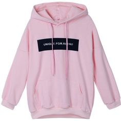Casual Women Letter Printed Pocket Loose Hooded Sweatshirt ($27) ❤ liked on Polyvore featuring tops, hoodies, sweaters, clothing - hoodies, pink, sports hoodie, long sleeve hoodie, cotton hooded sweatshirt, pink hoodies and pink long sleeve top