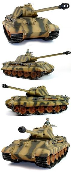 Tanks and Military Vehicles 45986: Taigen King Tiger (Porsche Turret) Infrared 2.4Ghz Rtr Rc Tank 1 16Th Scale -> BUY IT NOW ONLY: $451.89 on eBay!