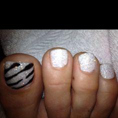 Fun Zebra nails