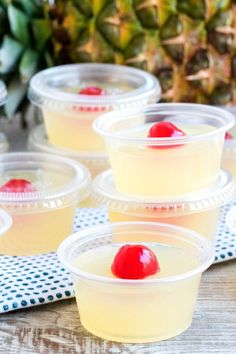 Pina Colada Jello Shots turn a summer cocktail staple into fun shots perfect for any party! Rum, pineapple & coconut are a tropical combination that'll be a hit with all your friends!