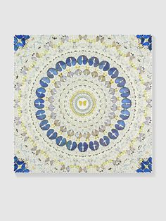 "Damien Hirst, ""Incarnation"" - 2008. Butterflies and household gloss on canvas, 1524 x 1524 mm 