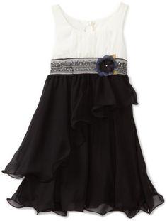 Bonnie Jean Girls 7-16 Chiffon Dress with Wire Hem for Sale