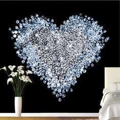 Heart+of+Diamonds+Wallpaper+Mural