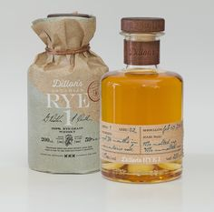 It's no surprise that Dillon's Small Batch 100% Rye Whisky sold out in a  matter of a few hours—just look at this bottle!