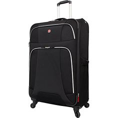 Shop for Wenger Monte Leone Black Large Expandable Spinner Upright Suitcase. Get free delivery On EVERYTHING* Overstock - Your Online Luggage Shop! Luggage Shop, Best Travel Luggage, Luggage Deals, Wenger Watches, Luggage Reviews, Checked Luggage, Spinner Suitcase, Duffel Bag