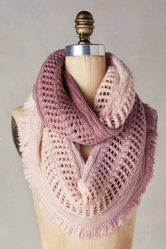 Fringed Ombre Infinity Scarf | Pinned by topista.com