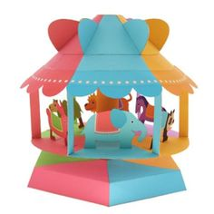 Wind powered merry-go-round, Paper Toys by Creative Craft