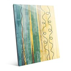 "Click Wall Art Color Divide Teal Painting Print on Plaque Size: 10"" H x 8"" W x 1"" D"