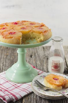 "Well, who's ready to abandon their resolutions? Anyone fall off the wagon yet? Fall into my pineapple upside down cake from scratch sugar-soaked arms. I'll take care of you with this version that will leave you asking ""what treadmill?"" Don't bother with a boxed"
