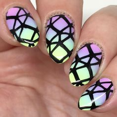 Trippy glows from this #ElectroGlo #mani from #LacquerAndSpice. Like and Share if you feel the glow. Or click the image to get it!