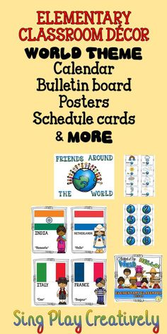 Elementary World Themed Decor https://www.teacherspayteachers.com/Store/Sing-play-creatively