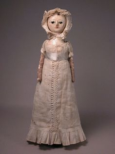 "11 1/2"" George III English Wooden Doll"