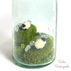"""@curiouscountry posted to Instagram: This cute St Patrick's Day craft that I found on Pinterest is called \""""Ireland in a Jar\"""" and it's perfect for a holiday vignette. Start with a mason jar and a few pieces of Mood Moss. Add some rocks and little cotton sheep to finish the look. Have fun with it and be creative! Share your finished projects with us by tagging @curiouscountrycreations #stpatricksday #stpaddysday #springdecor #moodmoss #moss #ireland #irish #luckoftheirish #diycrafts #sprin"""