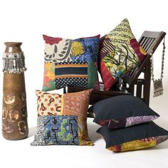 Lot of 10 Vintage Kantha Pillow Covers Indian Handmade Kantha Patch Cushion Cover Decor Sofa Pillow Case Assorted Color and print Vintage Pillow Cases, Vintage Cushions, Vintage Quilts, Sofa Pillows, Throw Pillows, Home Lanterns, Patchwork Patterns, Patchwork Pillow, Cotton Bedding