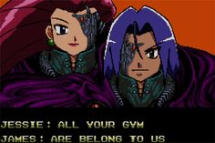 "Pokemon mash-up with Zero Wing – Team Rocket's version of the old-school Engrish meme, ""all your base are belong to us"" – perfect T-shirt for anime geeks and classic video gamers"