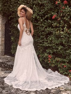 """A resounding """"Yes!"""" to shimmery texture, a sweetheart neckline, and an ultra-flattering silhouette in this sexy low-back mermaid wedding dress. Wedding Dresses Sydney, Designer Wedding Dresses, Sydney Wedding, Maggie Sottero Wedding Dresses, Wedding Gowns, Wedding Attire, Lace Wedding, Wedding Happy, Bridal Boutique"""