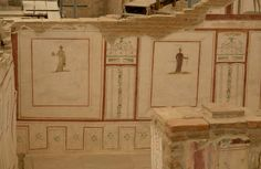 """The triclinium (dining room) was one of the most important rooms in the house.The family would drink wine and eat their meals in a half-reclining position upon a """"kline"""", couches which were placed parallel to the walls Bronze and marble tables with lavishly decorated legs, wooden or wickerwork armchairs, and backless chairs were principal types of furniture. Fruits of Ephesus:figs and pomegranates, and animals provided by the farms outside the city, pork, fowl and fish were the favorite…"""