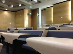 Interactive seating for lecture theatres, Loughborough Design School