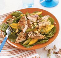 Chicken & Avocado Salad with Poppy Seed Dressing